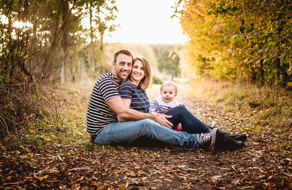 portrait famille parents et enfant automne rennes